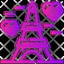 Valentine Day Eiffel Tower Paris Icon