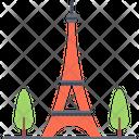 Eiffel Tower Building Icon