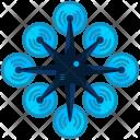 Eight fan drone Icon