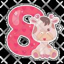 Eight Character Giraffe Icon