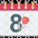 Eight On Calendar Icon