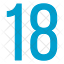 Eighteen Numbers Icon
