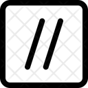 Double Slash Icon