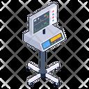 Ekg Machine Cardiac Electrogram Ecg Machine Icon
