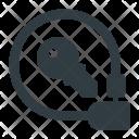 Elastic Lock Locked Icon