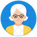 Senior Person Old Woman Senior Citizen Icon