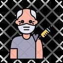 Elder Man Vaccination Icon