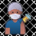 Elder Man Vaccination Elder Man Icon