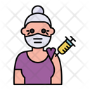 Elder Woman Vaccination Icon