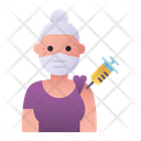 Elder Woman Vaccination Woman Elder Icon