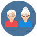 Caretaker Elderly Old Woman Icon