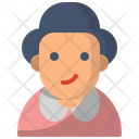 Elderly Grandmother Old Icon