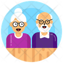 Elderly Old Age Persons Old Couple Icon