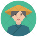 Elderly Asian Woman Icon