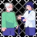 Elderly Check Up Icon