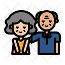 Elderly Couple Couple Marriage Icon