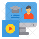 Computer Elearning Lesson Icon