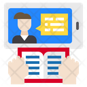 Elearning Online Hand Icon