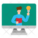 Elearning Course Online Icon