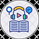 Elearning Audio Audiobook Icon