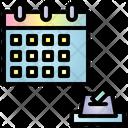 Calendar Election Timetable Icon