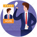 Election Male Candidate Election Candidate Nominee Icon