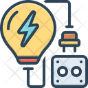 Electric Thunder Bolt Power Icon