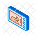 Electric Oven Isometric Icon