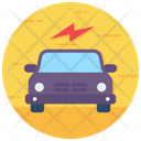 Electric Car Automobile Vehicle Ecological Transport Icon