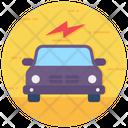 Electric Autonomous Car Icon