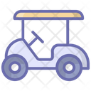 Electric Buggy Golf Transport Golf Cart Icon