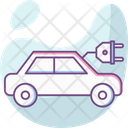 Electric Car Electricity Innovation Icon