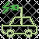 Electric Car Ecology Transportation Icon