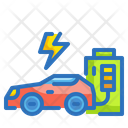 Electric Car Ecology Environment Icon