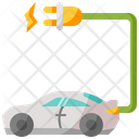 Electric Car Eco Car Electric Vehicle Icon