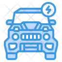 Electric Car Electric Vehicle Charging Car Icon