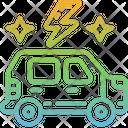 Electric Car Hybrid Car Environment Icon
