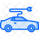 Electric Car Electricity Icon