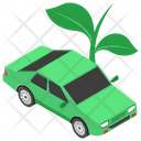 Electric Car Renewable Energy Green Car Icon