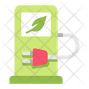 Electric Car Charger Power Station Station Icon