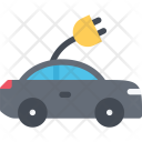 Electric Car Ecology Icon