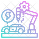 Electric Car Service Icon