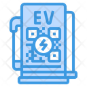 Electric Charging Station Charging Station Electric Car Icon
