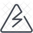 Electric Danger Sign Danger Electricity Icon