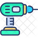 Electric Drill Construction Tool Icon
