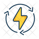Electric Energy Electric Cycle Icon