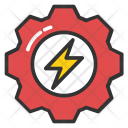 Electric Energy Gear Icon