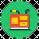 Electric Generator Alternate Supply Generating Unit Icon