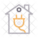 Electric Plug House Icon