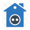 Electric House Home Icon